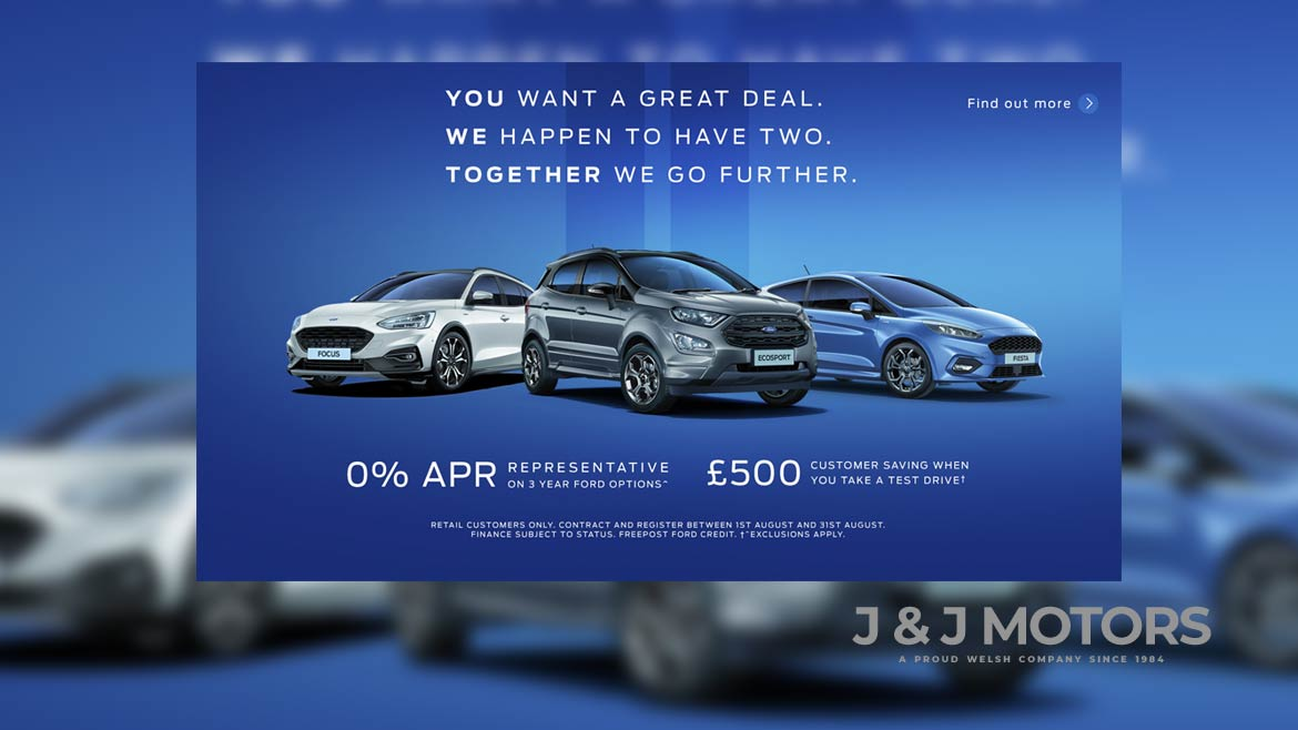 New Ford Cars We Stock Every Model J J Motors South Wales